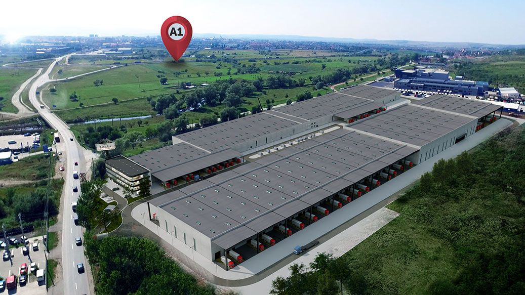 Zacaria delivers the first building from the largest industrial park in Sibiu